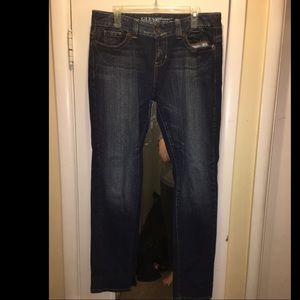Guess boot cut dark wash jeans